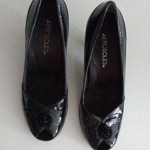 Women's Dress shoes / Black with heels